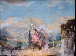 """Restauration de peinture de chevalet """"Fuite en Egypte"""" - galerie - Atelier de restauration du Château de Sers"""