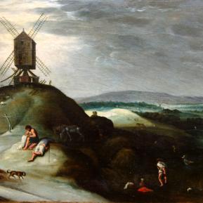 Restauration de peinture de chevalet huile sur panneau de bois Flamand XVIIème siècle - Après restauration