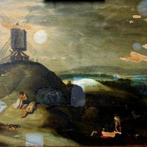 Restauration de peinture de chevalet huile sur panneau de bois Flamand XVIIème siècle - Avant restauration