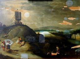 Restauration de peinture de chevalet huile sur panneau - galerie - Atelier de restauration du Château de Sers