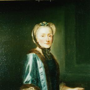 """Restauration de peinture de chevalet huile sur toile """"Louife Elifabeth de La Rochefoucauld"""" XVIIIème Château de La Rochefoucauld - Après restauration"""
