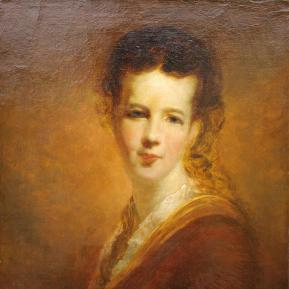 Restauration de peinture de chevalet huile sur toile - Portrait peintre anglais XIXème siècle - Après restauration