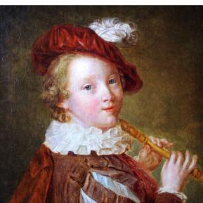 Restauration de peinture de chevalet huile sur toile XVIIIème siècle - Après restauration