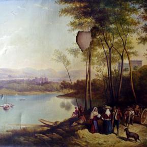 Restauration de peinture de chevalet huile sur toile XVIIIème siècle - Avant restauration
