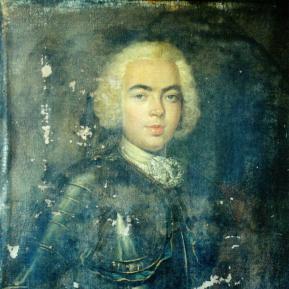 Restauration de peinture de chevalet huile sur toile - XVIIIème siècle - Avant restauration