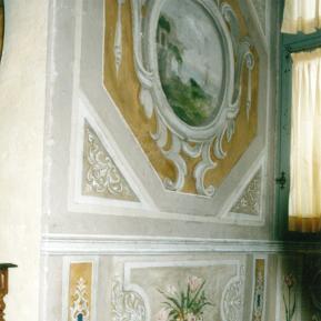 Restauration de peinture murale XVIIème classée au répertoire des monuments historiques - Château de La Rochefoucauld - Après restauration